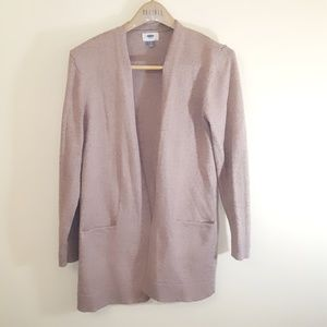 Old Navy Dusty Rose Pink Open Cardigan